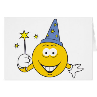 Wizard  Smiley Face Greeting Card