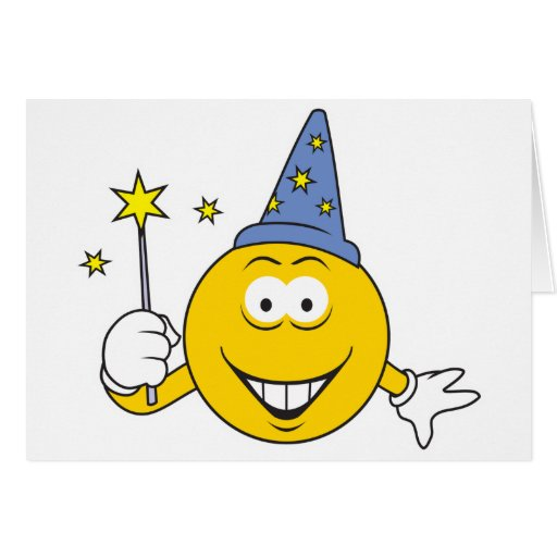 Wizard  Smiley Face Cards