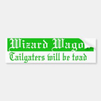 Wizard wagon bumper sticker
