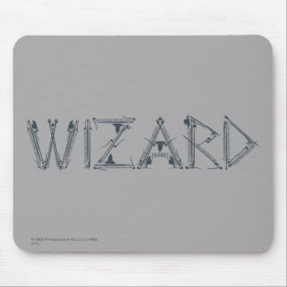 Wizard Weapon Collage Mouse Pad