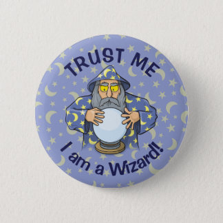 Wizard with Ball 2 Inch Round Button