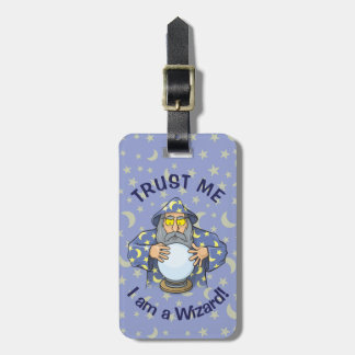 Wizard with Ball Bag Tag
