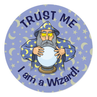 Wizard with Ball Card