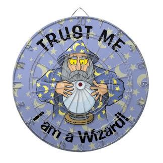 Wizard with Ball Dartboard With Darts