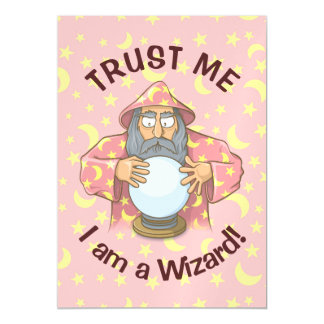 Wizard with Ball Magnetic Card
