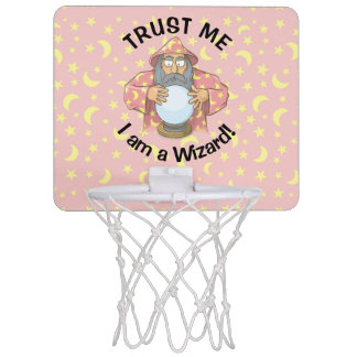 Wizard with Ball Mini Basketball Backboard