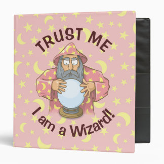 Wizard with Ball Old wizard with blue cape looking Vinyl Binder