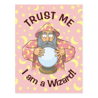 Wizard with Ball Postcard