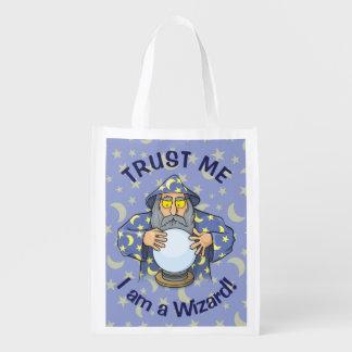 Wizard with Ball Reusable Grocery Bag