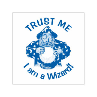 Wizard with Ball Self-inking Stamp