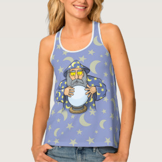 Wizard with Ball Tank Top
