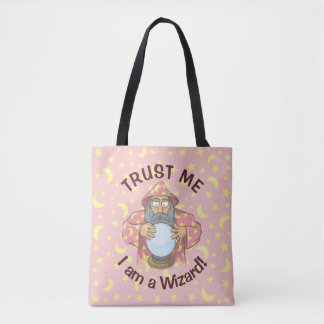 Wizard with Ball Tote Bag