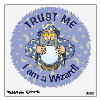 Wizard with Ball Wall Decal