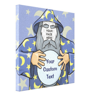 Wizard with your face canvas print