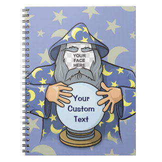 Wizard with your face notebook