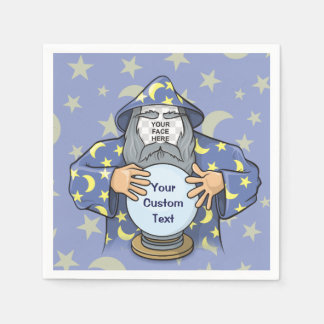 Wizard with your face paper napkin