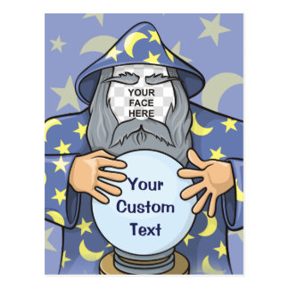 Wizard with your face postcard