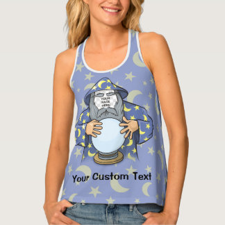 Wizard with your face tank top