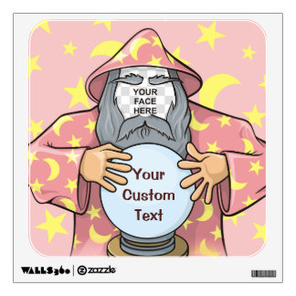 Wizard with your face wall decal
