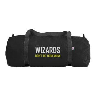 Wizards Do Not Do Homework Gym Bag