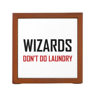 Wizards Do Not Do Laundry Desk Organizer