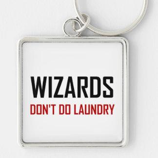 Wizards Do Not Do Laundry Keychain