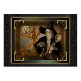 Wizards Magic Fantasy Illustration ACEO Large Business Card