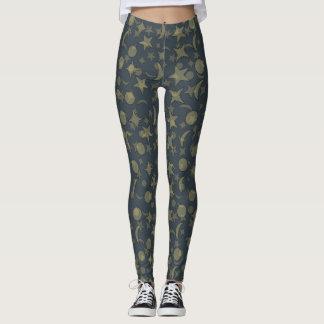 WIZARD'S STARS AND MOONS complex by Slipperywindow Leggings