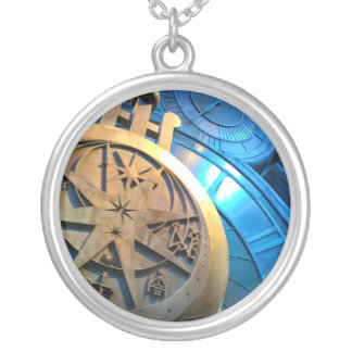 WIZARDS TIME PIECE SILVER PLATED NECKLACE