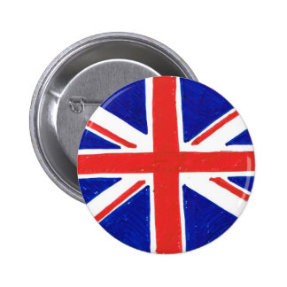WJ UK flag 2 Inch Round Button