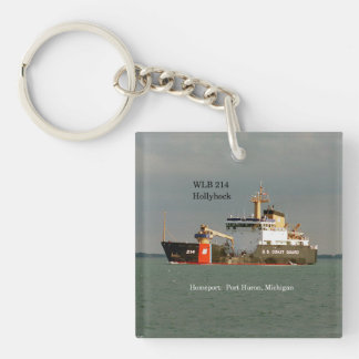 WLB 214 Hollyhock acrylic key chain