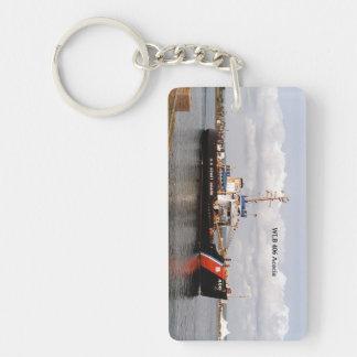 WLB 406 Acacia rectangle acrylic key chain