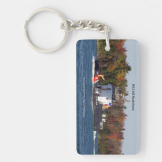 WLI 642 Buckthorn rectangle acrylic key chain