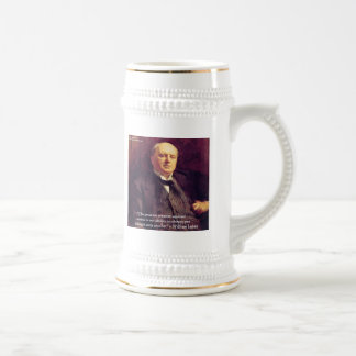 """Wm James """"Curing Stress"""" Wisdom Quote Gifts Beer Stein"""