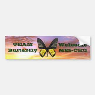 WM kishitaageha Team Butterfly Bumper Sticker