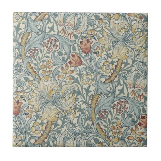 Wm Morris Arts & Crafts Golden Lily Repro Tile