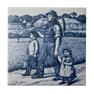 Wm Wise Country Village Life Family Antique Repro Ceramic Tiles