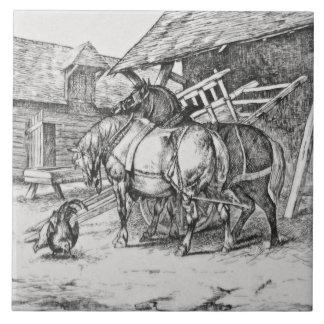 Wm Wise Minton Farm Animals Horses Tile Repro