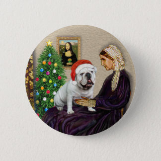 WMom Xmas (R) - English Bulldog 1 2 Inch Round Button