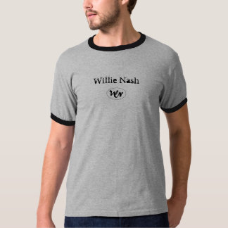 wn logo, Willie Nash Grey Ringer T-Shirt