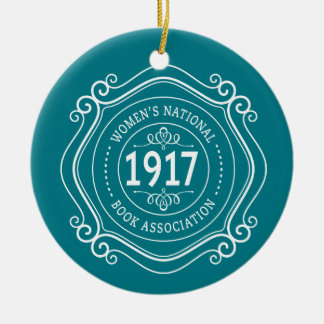 WNBA holiday ornament teal anniversary crest