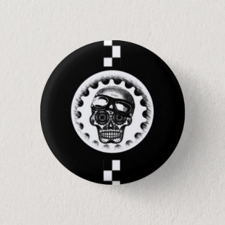 W'nR'n Cafe Racer Sugar Skull 1 Inch Round Button