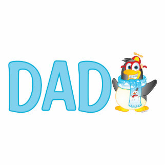 Wobble Penguin Cartoon Character for Dad - Standing Photo Sculpture