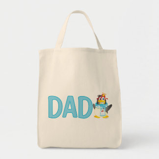 Wobble Penguin Cartoon for Dad - Tote Bag