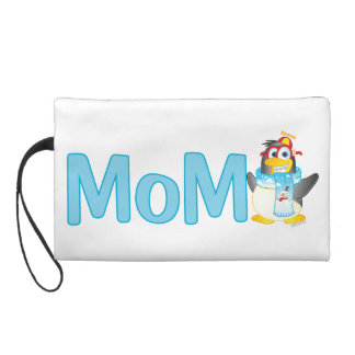 Wobble Penguin Gift for Mom - Wristlet Clutches