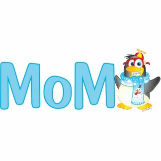 Wobble Penguin Gift for Mom - Standing Photo Sculpture
