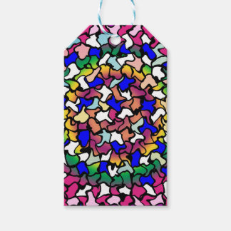 Wobbly Vibrant Tiles Gift Tags Pack Of Gift Tags