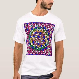 Wobbly Vibrant Tiles Men's T-Shirt