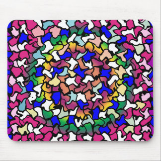 Wobbly Vibrant Tiles Mouse Pad