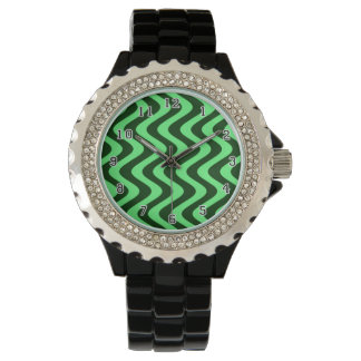 Wobbly Waves (Green/Green) Wristwatches